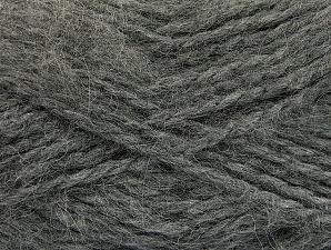 SuperBulky  Fiber Content 70% Acrylic, 30% Angora, Brand ICE, Grey, fnt2-63126