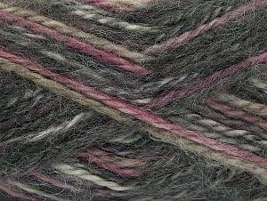 SuperBulky  Fiber Content 70% Acrylic, 30% Angora, Purple, Pink, Brand ICE, Grey, fnt2-63136