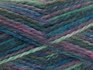 SuperBulky  Fiber Content 70% Acrylic, 30% Angora, Lavender, Brand ICE, Green, Blue, fnt2-63138
