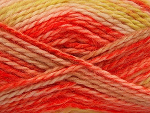SuperBulky  Contenido de fibra 70% Acrílico, 30% Angora, Yellow, Orange, Brand ICE, fnt2-63142