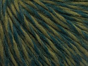 Fiber Content 65% Wool, 35% Acrylic, Brand ICE, Green Shades, Yarn Thickness 4 Medium  Worsted, Afghan, Aran, fnt2-63174