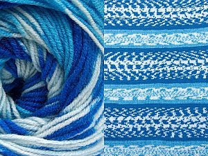 Fiberinnehåll 70% Akryl, 30% Ull, Brand ICE, Blue Shades, Yarn Thickness 3 Light  DK, Light, Worsted, fnt2-63205