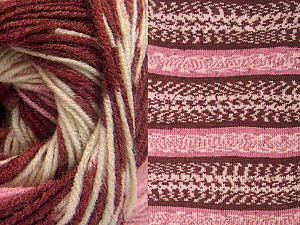 Fiberinnehåll 70% Akryl, 30% Ull, Pink, Brand ICE, Cream, Burgundy, Yarn Thickness 3 Light  DK, Light, Worsted, fnt2-63213