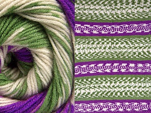 Fiberinnehåll 70% Akryl, 30% Ull, Purple, Brand ICE, Green, Cream, Yarn Thickness 3 Light  DK, Light, Worsted, fnt2-63218
