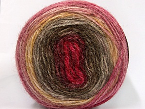 Fiber Content 50% Premium Acrylic, 25% Wool, 25% Alpaca, Pink, Brand ICE, Gold, Burgundy, Brown Shades, fnt2-63269