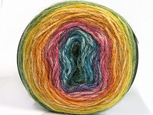Fiber Content 50% Premium Acrylic, 25% Wool, 25% Alpaca, Yellow, Pink, Orange, Brand ICE, Green, Blue, fnt2-63273