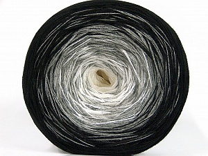 Fiber Content 50% Acrylic, 50% Cotton, White, Brand ICE, Grey, Black, Yarn Thickness 2 Fine  Sport, Baby, fnt2-63317