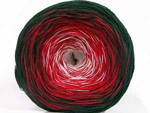 Fiberinnehåll 50% Bomull, 50% Akryl, White, Red, Brand ICE, Dark Green, Yarn Thickness 2 Fine  Sport, Baby, fnt2-63320