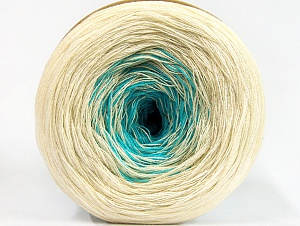 Fiberinnehåll 50% Bomull, 50% Akryl, Turquoise, Brand ICE, Cream, Beige, Yarn Thickness 2 Fine  Sport, Baby, fnt2-63328
