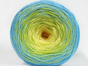 Fiberinnehåll 50% Bomull, 50% Akryl, Yellow, Light Green, Brand ICE, Baby Blue, Yarn Thickness 2 Fine  Sport, Baby, fnt2-63330