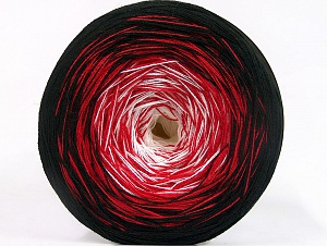Fiber Content 50% Cotton, 50% Acrylic, White, Red, Brand ICE, Black, Yarn Thickness 2 Fine  Sport, Baby, fnt2-63331