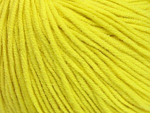 Fiber Content 50% Acrylic, 50% Cotton, Neon Yellow, Brand ICE, Yarn Thickness 3 Light  DK, Light, Worsted, fnt2-63342