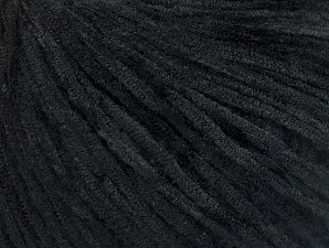 Fiber Content 100% Polyester, Brand ICE, Black, Yarn Thickness 1 SuperFine  Sock, Fingering, Baby, fnt2-63358