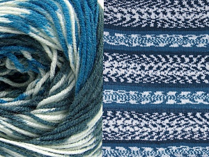 Fiberinnehåll 70% Akryl, 30% Ull, White, Brand ICE, Blue, Anthracite Black, Yarn Thickness 3 Light  DK, Light, Worsted, fnt2-63387