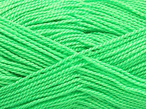 Vezelgehalte 100% Acryl, Neon Green, Brand ICE, Yarn Thickness 1 SuperFine  Sock, Fingering, Baby, fnt2-63388