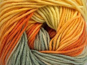 Fiber Content 55% Cotton, 45% Acrylic, Yellow, Orange, Khaki, Brand ICE, Gold, fnt2-63393