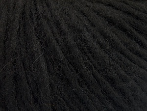 Fiber Content 50% Merino Wool, 25% Alpaca, 25% Acrylic, Brand ICE, Black, fnt2-63404