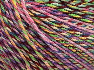 Fiberinnehåll 55% Bomull, 45% Akryl, Pink, Maroon, Lilac Shades, Brand ICE, Green, Yarn Thickness 3 Light  DK, Light, Worsted, fnt2-63414