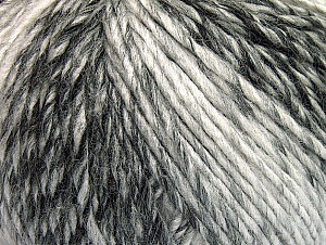 Fiber Content 70% Acrylic, 30% Wool, White, Brand ICE, Grey Shades, Black, fnt2-63449