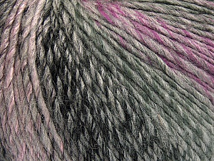 Fiber Content 70% Acrylic, 30% Wool, Lilac Shades, Brand ICE, Grey Shades, fnt2-63450
