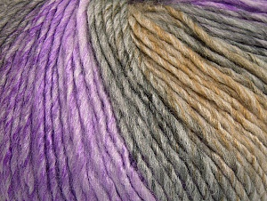 Fiber Content 70% Acrylic, 30% Wool, Lilac Shades, Brand ICE, Grey Shades, Camel, fnt2-63454
