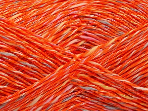 Fiber Content 40% Cotton, 40% Acrylic, 20% Viscose, Orange, Brand ICE, fnt2-63474