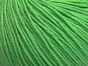 Fiber Content 60% Cotton, 40% Acrylic, Light Green, Brand ICE, fnt2-63480