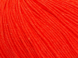 Fiber Content 60% Cotton, 40% Acrylic, Neon Orange, Brand ICE, fnt2-63481