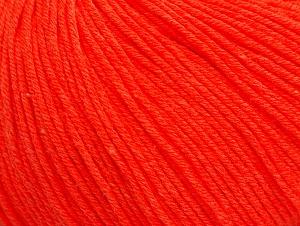 Fiber Content 60% Cotton, 40% Acrylic, Neon Orange, Brand ICE, fnt2-63481
