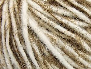 Contenido de fibra 60% Acrílico, 40% Poliamida, White, Brand ICE, Camel, Yarn Thickness 5 Bulky  Chunky, Craft, Rug, fnt2-63502
