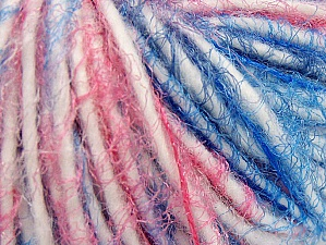 Fiber Content 60% Acrylic, 40% Polyamide, White, Pink, Brand ICE, Blue, Yarn Thickness 5 Bulky  Chunky, Craft, Rug, fnt2-63507