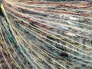 Fiber Content 47% Acrylic, 28% Polyamide, 25% Mohair, Yellow, White, Orange, Mint Green, Brand ICE, fnt2-63516