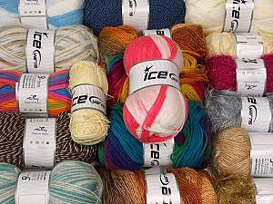 Acrylic Yarns This mixed lot includes a total of 1800 gr yarn. There is no standard for ball weight. Also disregard any information on the labels. You will get what you see in the photo. Brand ICE, fnt2-63533