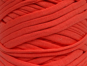 Make handbags,rugs,basket and cushion covers with this genius new-fashion yarn!<p>Since the yarn is made by upcycling fabrics, and because of the nature of the yarn; take the following notes into consideration. </p><ul><li>Fiber content information may vary. Information given about fiber content is approximate. </li><li>The yardage and weight information of the yarn is approximate. </li></ul> Fiberinnehåll 95% Bomull, 5% Elastan, Salmon, Brand ICE, fnt2-63572