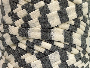 Make handbags,rugs,basket and cushion covers with this genius new-fashion yarn!<p>Since the yarn is made by upcycling fabrics, and because of the nature of the yarn; take the following notes into consideration. </p><ul><li>Fiber content information may vary. Information given about fiber content is approximate. </li><li>The yardage and weight information of the yarn is approximate. </li></ul> Fiberinnehåll 95% Bomull, 5% Elastan, Brand ICE, Grey, Cream, fnt2-63587