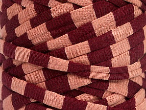 Make handbags,rugs,basket and cushion covers with this genius new-fashion yarn!<p>Since the yarn is made by upcycling fabrics, and because of the nature of the yarn; take the following notes into consideration. </p><ul><li>Fiber content information may vary. Information given about fiber content is approximate. </li><li>The yardage and weight information of the yarn is approximate. </li></ul> Fiberinnehåll 95% Bomull, 5% Elastan, Light Salmon, Brand ICE, Burgundy, fnt2-63594