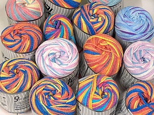 Cakes Air This mixed lot includes a total of 2000 gr (70.5 oz.) yarn. There is no standard for ball weight. Also disregard any information on the labels. You will get what you see in the photo. Fiber Content 50% Polyamide, 50% Acrylic, Brand ICE, fnt2-63652