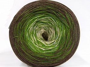 Fiber Content 50% Acrylic, 50% Cotton, Brand ICE, Green, Cream, Brown, fnt2-63678