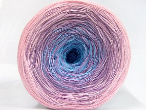 Fiberinnehåll 50% Akryl, 50% Bomull, Turquoise, Lilac, Light Pink, Brand ICE, fnt2-63680