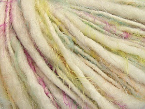 Fiber Content 40% Polyamide, 30% Wool, 30% Acrylic, White, Brand ICE, Green, Gold, Fuchsia, fnt2-63688