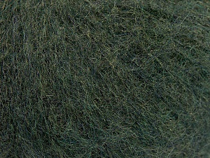 Knitted as 4 ply Fiber Content 40% Polyamide, 30% Kid Mohair, 30% Acrylic, Brand ICE, Dark Green, Yarn Thickness 1 SuperFine  Sock, Fingering, Baby, fnt2-63711