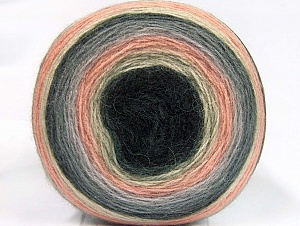 Fiber Content 60% Premium Acrylic, 20% Wool, 20% Mohair, Light Salmon, Brand ICE, Grey Shades, Cream, Yarn Thickness 2 Fine  Sport, Baby, fnt2-63716