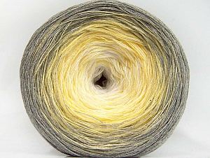 Fiberinnehåll 50% Akryl, 50% Bomull, White, Light Yellow, Brand ICE, Grey, fnt2-63996