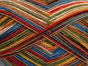 Fiber Content 50% Acrylic, 50% Wool, Rainbow, Brand ICE, Beige, fnt2-64002