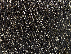 Fiber Content 75% Polyamide, 25% Metallic Lurex, Brand ICE, Gold, Black, fnt2-64004