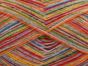 Fiber Content 50% Wool, 50% Acrylic, Rainbow, Brand ICE, Beige, fnt2-64008
