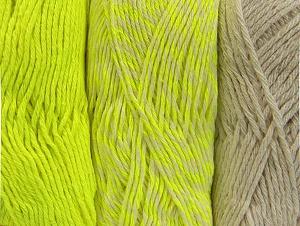 Fiber Content 90% Acrylic, 10% Polyester, Neon Yellow, Brand ICE, Ecru, fnt2-64029