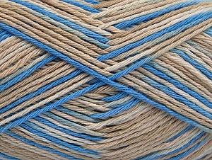 Περιεχόμενο ίνας 100% Βαμβάκι, Brand ICE, Cream, Blue, Beige, fnt2-64032