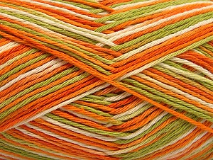 Fiber Content 100% Cotton, Orange, Brand ICE, Green, Cream, fnt2-64037