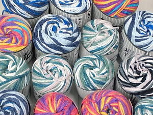 Cakes Air This mixed lot includes a total of 2000 gr (70.5 oz.) yarn. There is no standard for ball weight. Also disregard any information on the labels. You will get what you see in the photo. Fiber Content 50% Acrylic, 50% Polyamide, Brand ICE, fnt2-64081